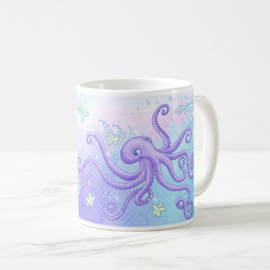 Octopus and friends (dark hair) coffee mug