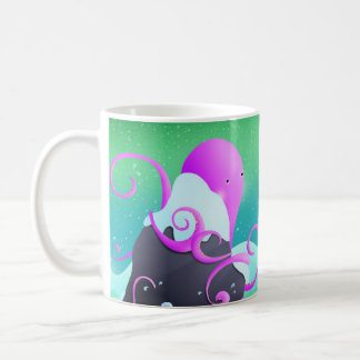 octopus and penguin - mug