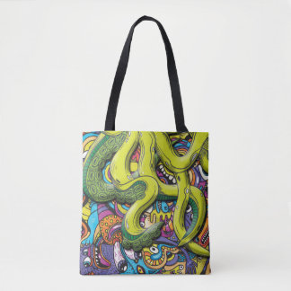 Octopus Attack Tote Bag