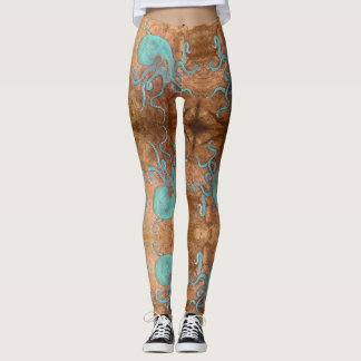 Octopus! Beach Bum Leggings