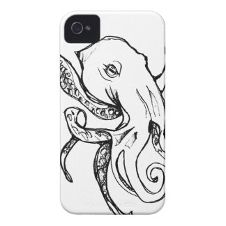 Octopus BLACK iPhone 4 Cases