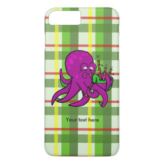Octopus Blowing Making Music On Bagpipes iPhone 7 Plus Case