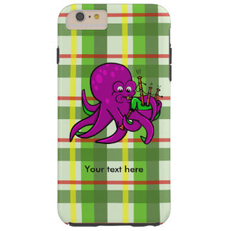 Octopus Blowing Making Music On Bagpipes Tough iPhone 6 Plus Case