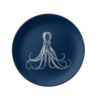 Octopus China Plate