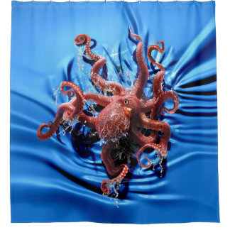Octopus Climb Shower Curtain
