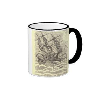 Octopus Coffee Cup Ringer Coffee Mug