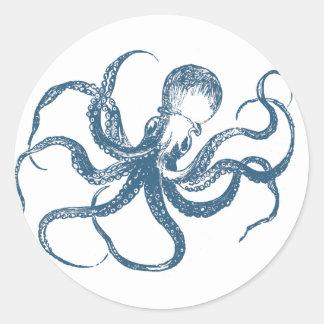 Octopus cyanotype sticker