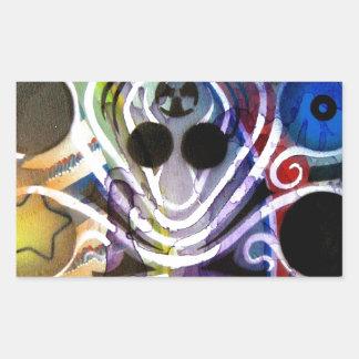 Octopus DJ V1 Rectangle Stickers