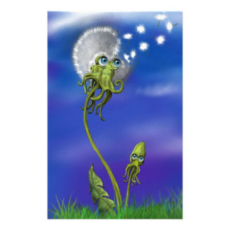 Octopus Dreams Customized Stationery