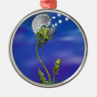 Octopus Dreams Silver-Colored Round Decoration