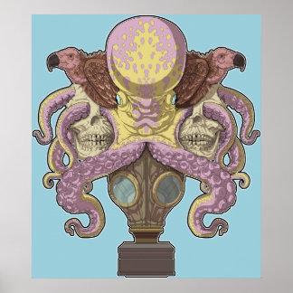 Octopus Emblem Poster
