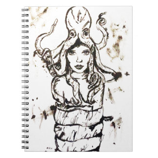 OCTOPUS FASHION ILLUSTRATED Ink print Notebook