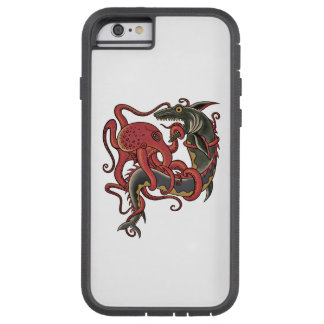 octopus fighting a shark tough xtreme iPhone 6 case