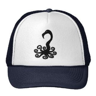 octopus flamingo humor combination animal cartoon mesh hats
