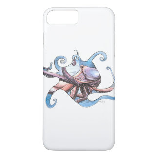 Octopus illustration on cell phone case