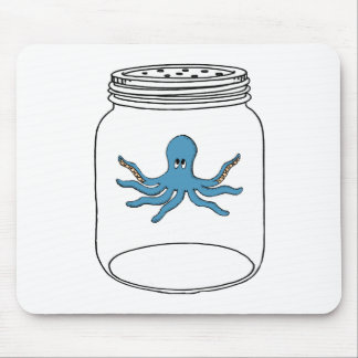 Octopus in a Jar Mouse Mat