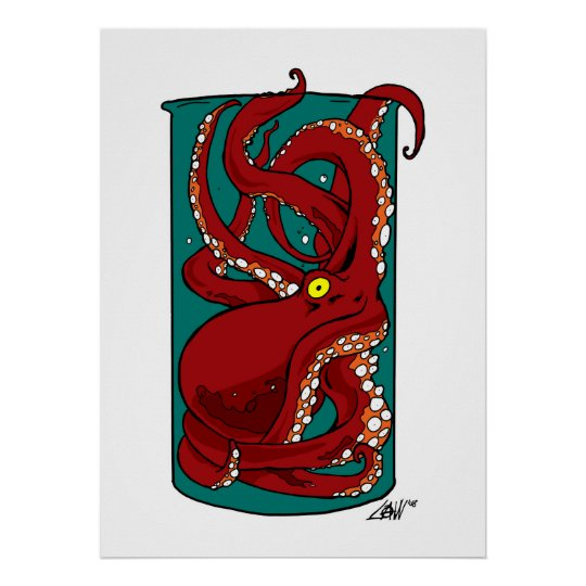 Octopus In a Jar Poster