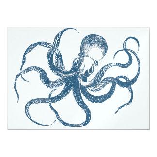 Octopus Information Card 11 Cm X 16 Cm Invitation Card