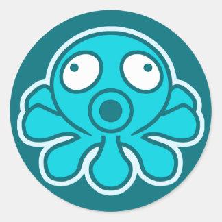 Octopus - Japanese anime style Round Sticker