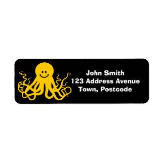 Octopus / Kraken Yellow Smiley