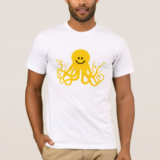 Octopus / Kraken Yellow Smiley T-Shirt