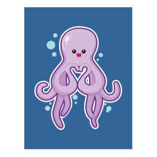Octopus Loves You Postcard