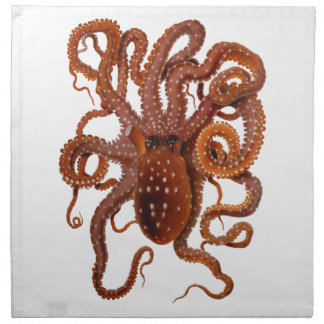 Octopus Macropus Atlantic White Spotted Octopus Cloth Napkins