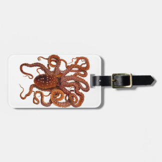 Octopus Macropus Atlantic White Spotted Octopus Luggage Tag