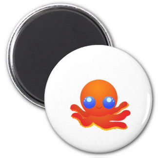 Octopus 6 Cm Round Magnet