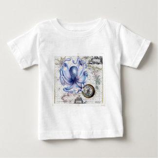 Octopus Map Nautica T Shirt