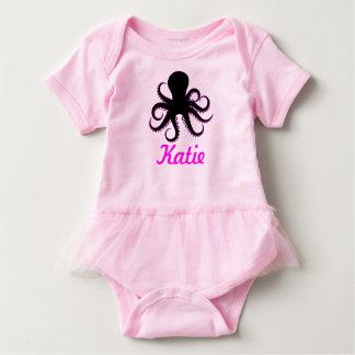 Octopus Name Baby Tutu Baby Bodysuit