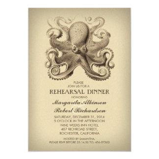 octopus nautical beach rehearsal dinner card