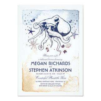 Octopus Nautical Rehearsal Dinner Card
