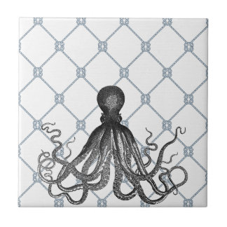 Octopus  - Nautical Small Square Tile