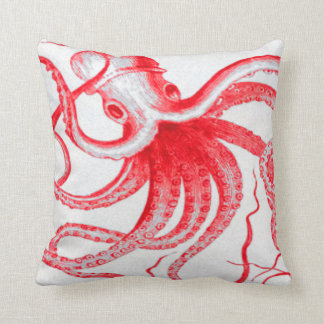 Octopus Nautical Steampunk Vintage Kraken Monster Cushion