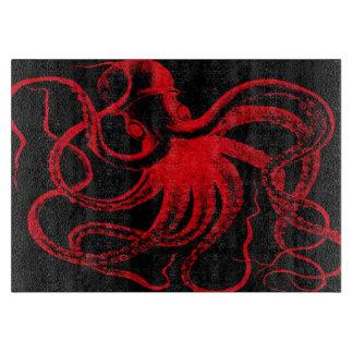 Octopus Nautical Steampunk Vintage Kraken Monster Cutting Board