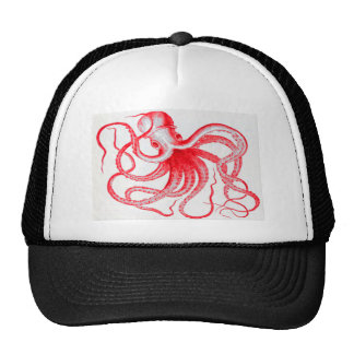 Octopus Nautical Steampunk Vintage Kraken Monster Mesh Hats