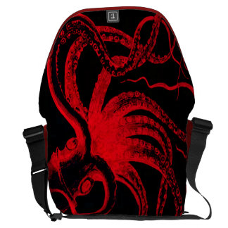Octopus Nautical Steampunk Vintage Kraken Monster Messenger Bag