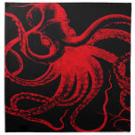 Octopus Nautical Steampunk Vintage Kraken Monster Napkins