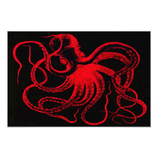 Octopus Nautical Steampunk Vintage Kraken Monster Photo Art