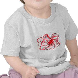 Octopus Nautical Steampunk Vintage Kraken Monster T-shirts