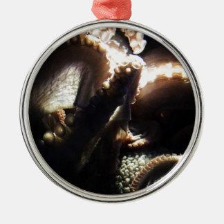 Octopus Newport Aquarium Silver-Colored Round Decoration