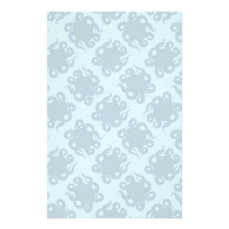 Octopus On Blue Pattern Stationery