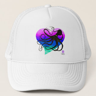 Octopus On Pink To Green - Trucker Hat