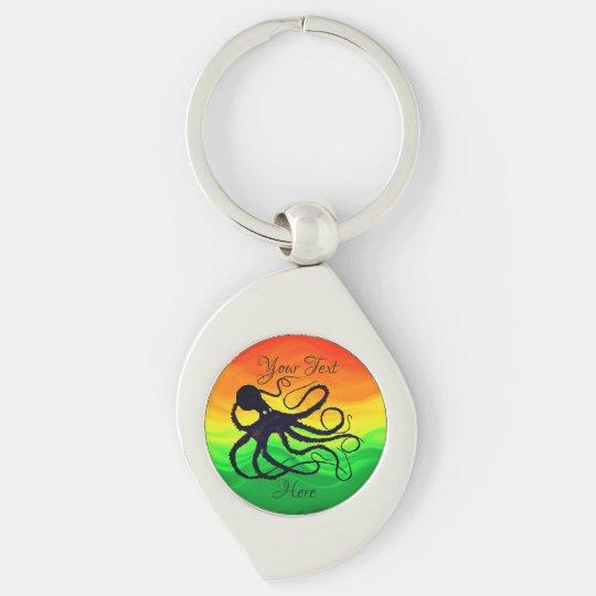 Octopus Orange to Green ❤ - Customisable Keychain