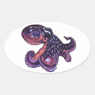 Octopus Oval Sticker