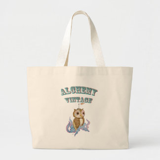 Octopus Owl Robot Large Tote Bag