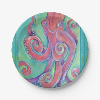 octopus paper plate
