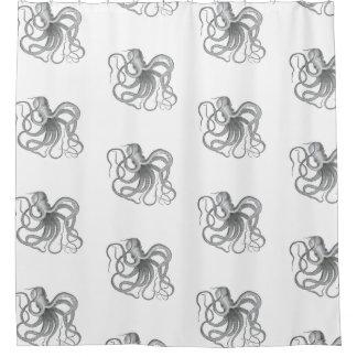 Octopus pattern Nautical steampunk Vintage kraken Shower Curtain