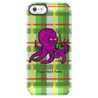Octopus Piper Musical Instrument Illustration Clear iPhone SE/5/5s Case